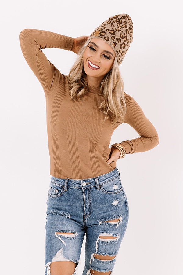 Looking Effortless Top In Camel