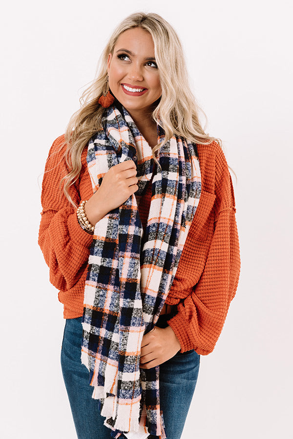 Blanket Of Snow Plaid Scarf