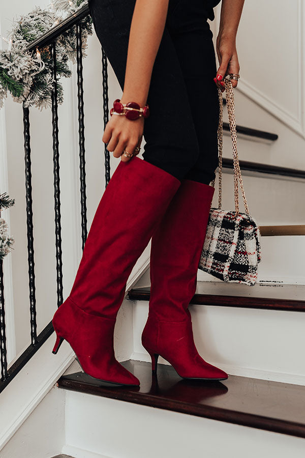 The Ayuna Knee Height Boot In Wine