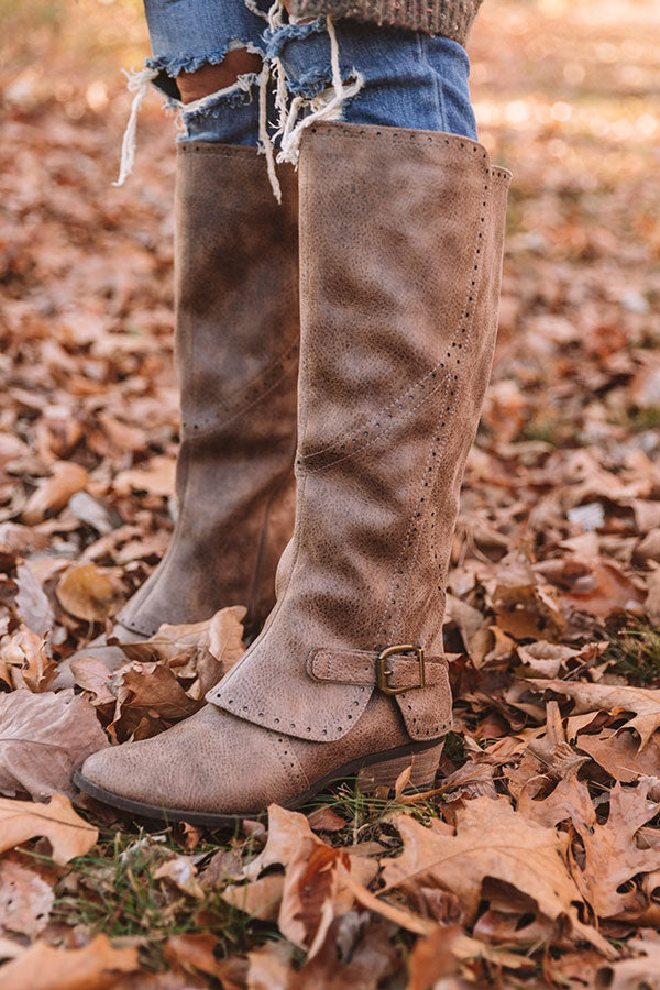 The Yuriko Knee High Boot in Dark Taupe