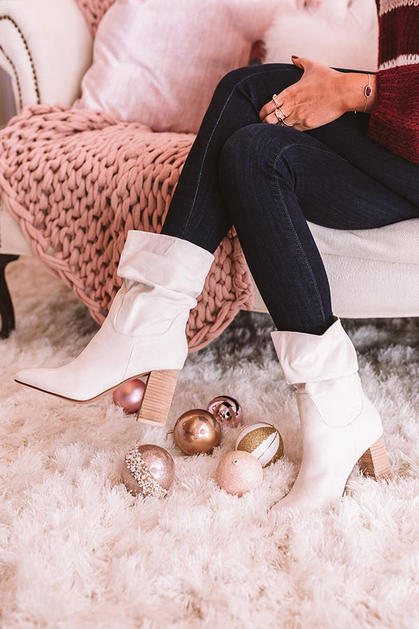 The Laurette Ankle Bootie In Ivory
