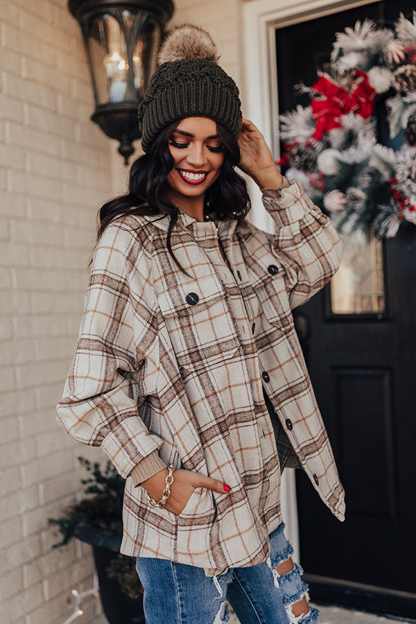 Snow Village Plaid Jacket