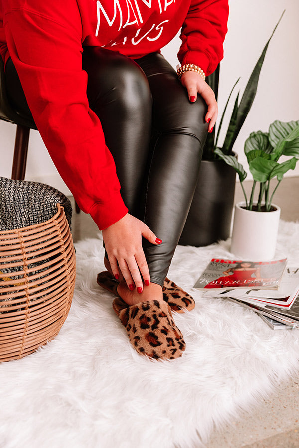 The Percy Leopard Plush Slippers