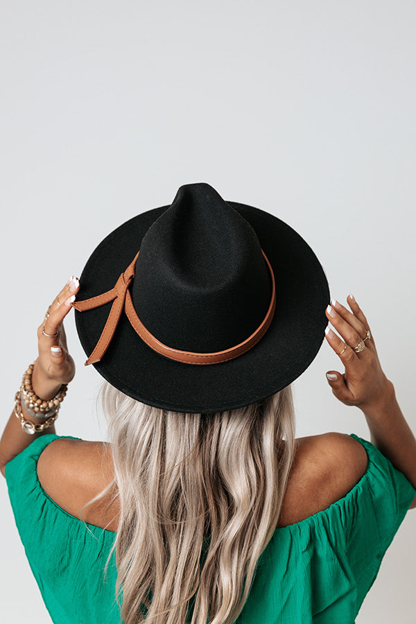 Shades Of Fall Fedora In Black