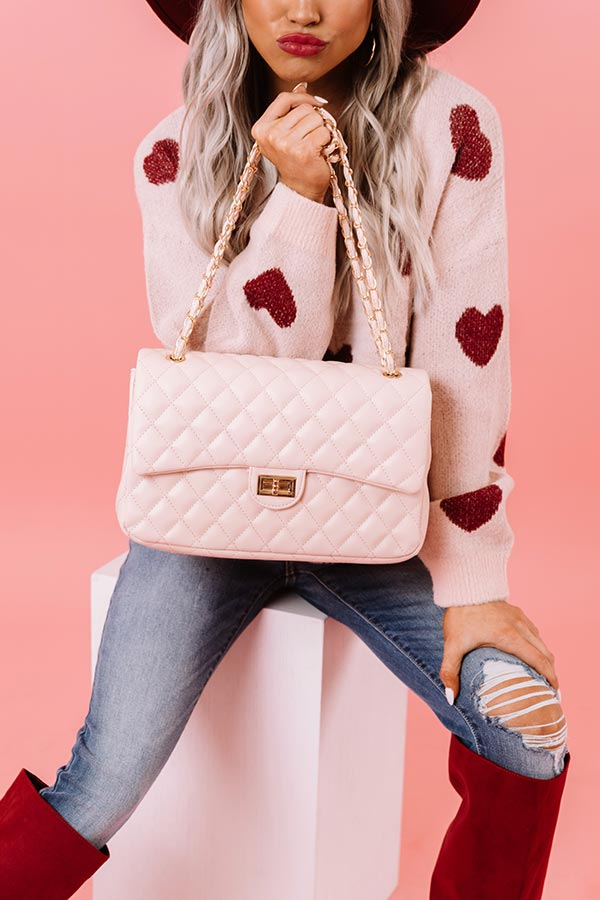 Landing In London Quilted Tote In Pink