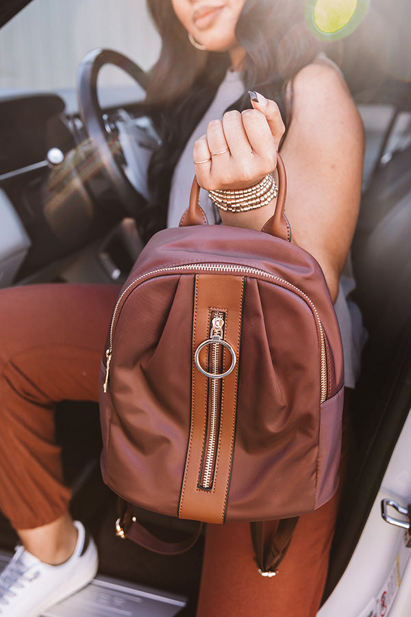 Shuttle To The City Backpack In Brown