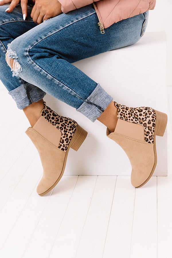 The Barner Faux Suede Bootie