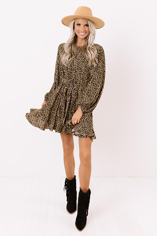 Chic In The Moment Leopard Dress