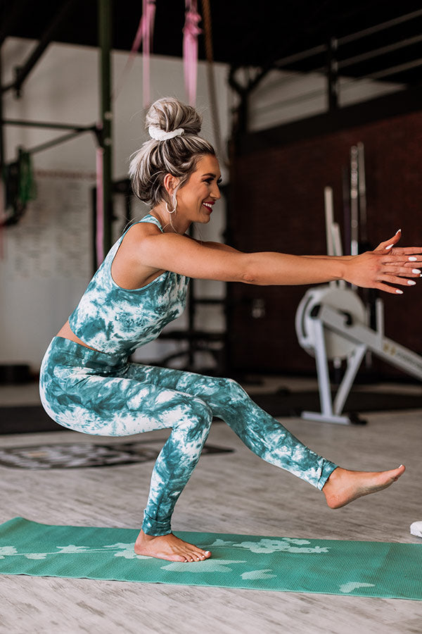Trail Blazer High Waist Tie Dye Active Legging in Teal