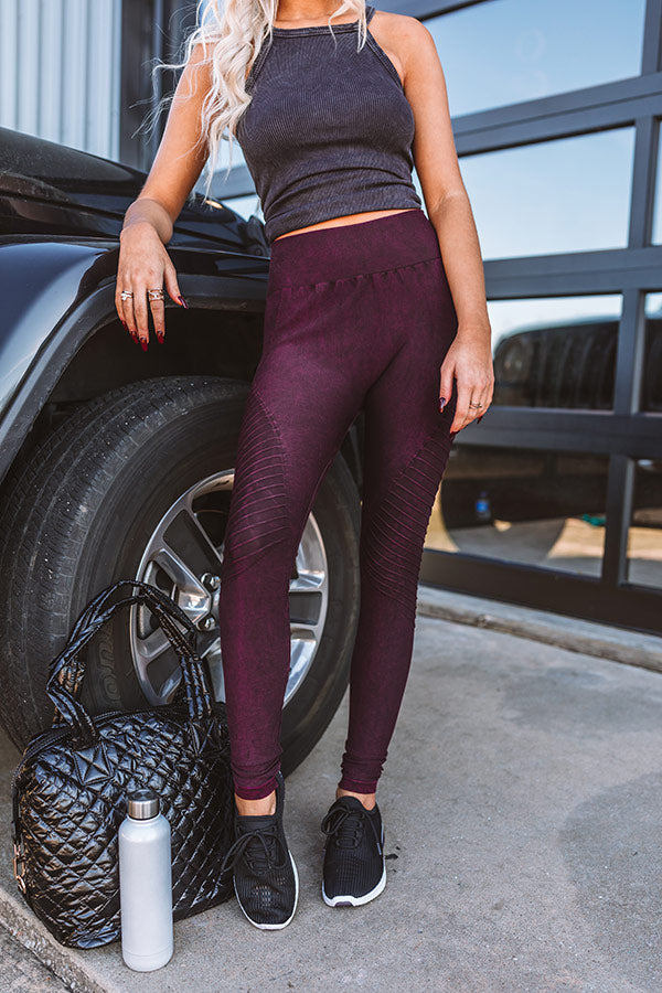 Finding Nirvana High Waist Legging In Maroon