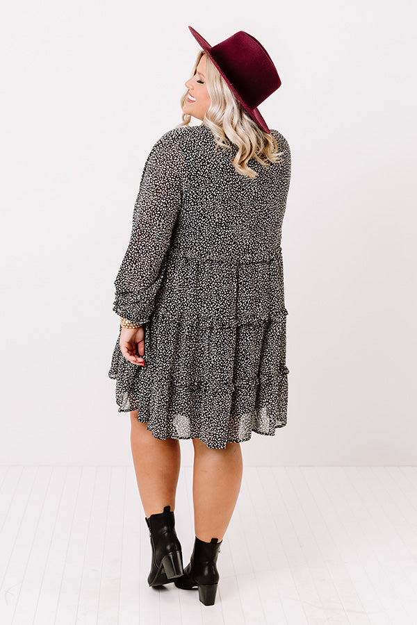 Sweeten The Deal Shift Dress In Black