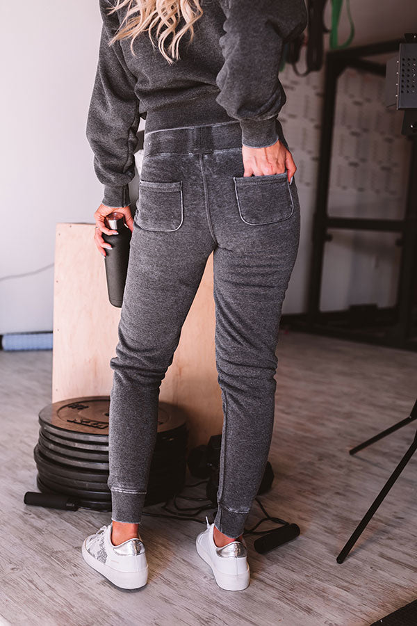 Fresh Air Joggers in Vintage Black