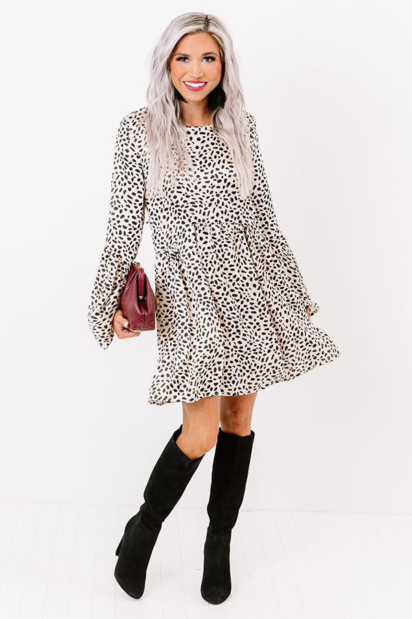 Best In Show Cheetah Print Babydoll Dress