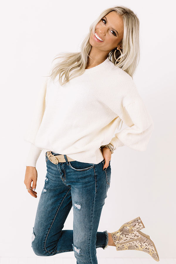 At Home In The City Sweater In Ivory