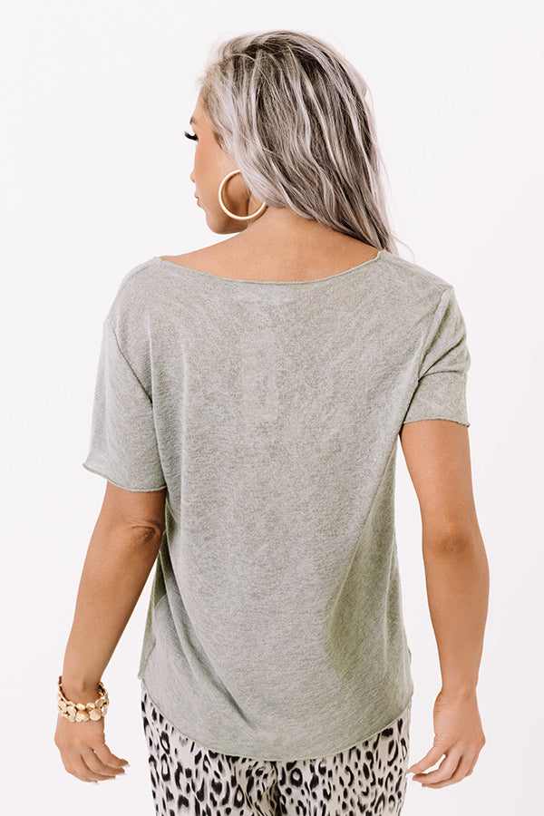 Three Day Weekend Shift Tee In Pear