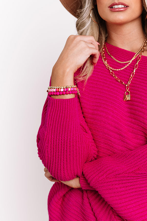 The Cupid Stretchy Stack Bracelet Set
