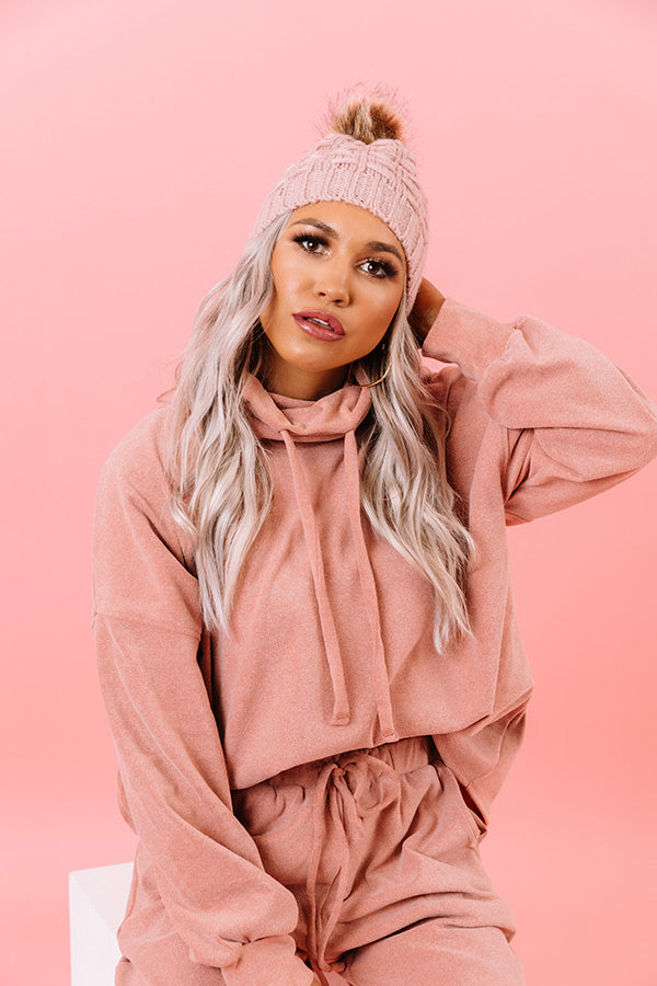 Cozy Perk Shift Sweater in Blush