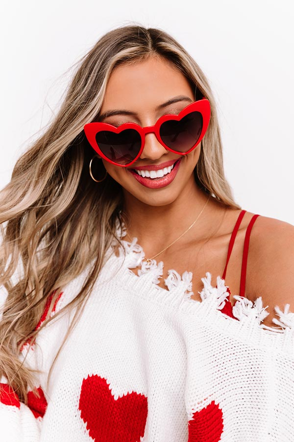 Hearts And Kisses Sunnies In Red
