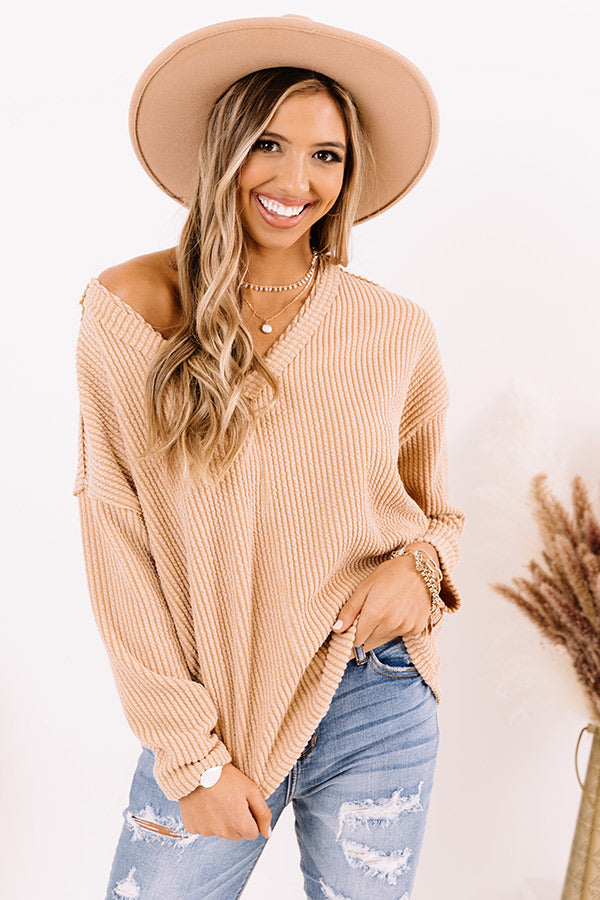 Gaining Momentum Shift Top In Light Camel