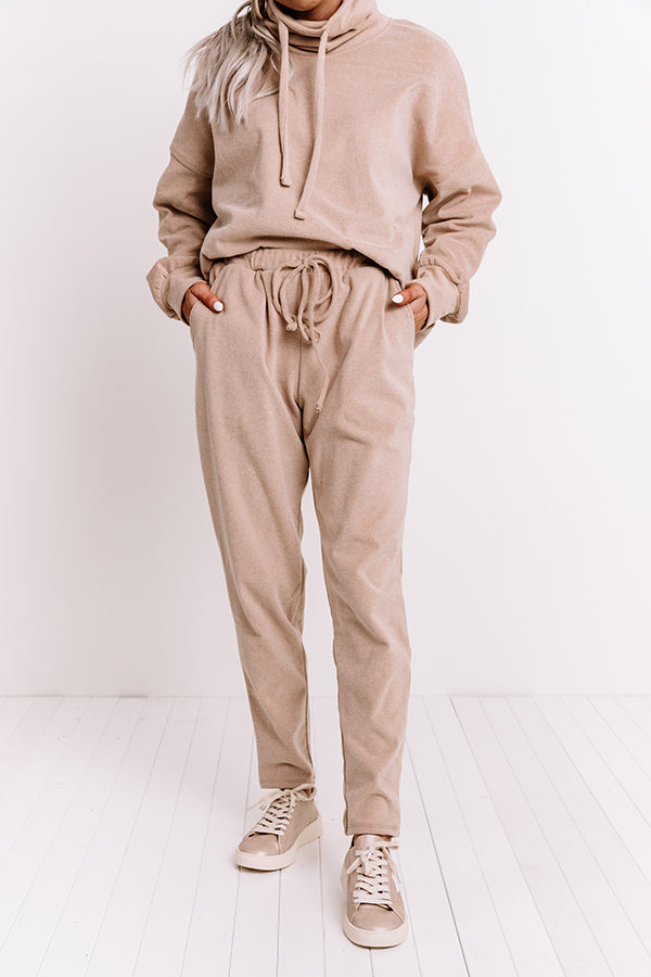 Cozy Perk Joggers in Iced Latte