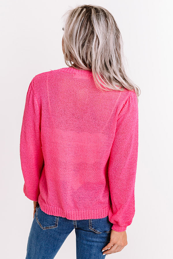 Sweet Comforts Knit Sweater Top