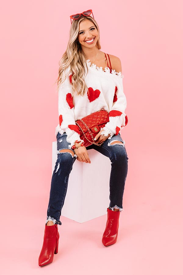 Breaking Hearts Distressed Sweater