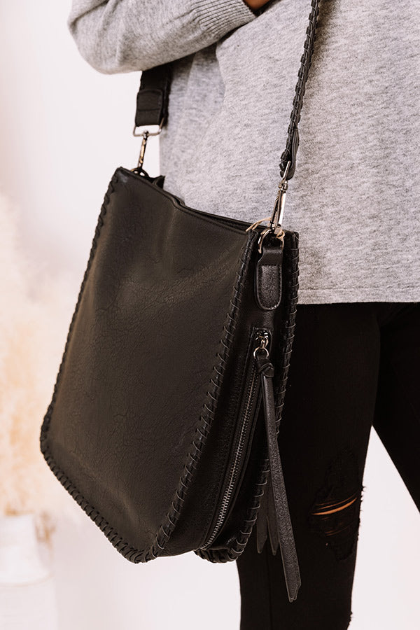 Somewhere Good Faux Leather Crossbody In Black