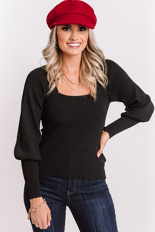 Mod Squad Ribbed Top in Black