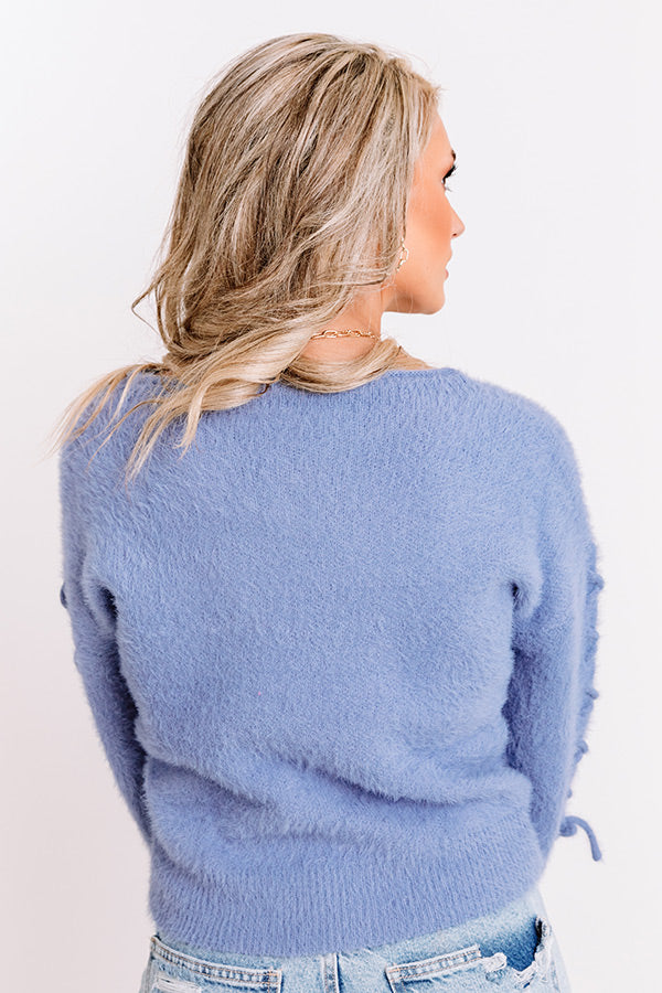 Stylist's Pick Eyelash Knit Sweater in Periwinkle