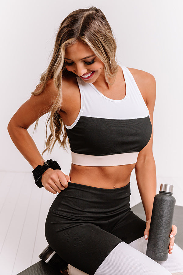 Morning Run Ribbed Sports Bra