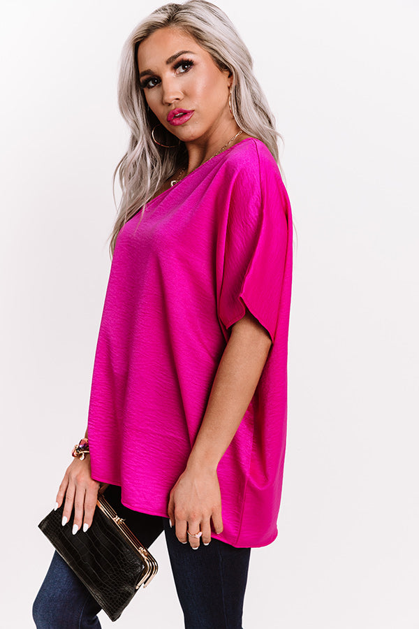 Rooftop Views Top In Fuchsia