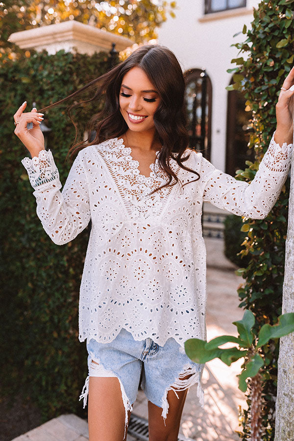 Better Al Fresco Eyelet Babydoll Top