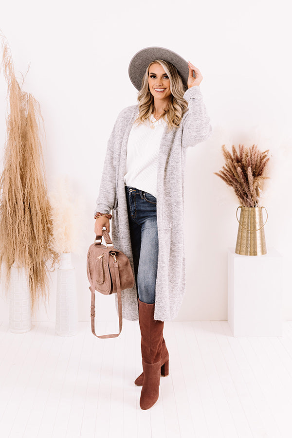 Brooklyn Views Duster Cardigan in Grey