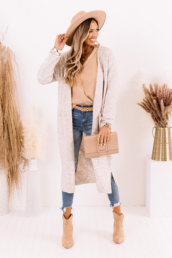 Brooklyn Views Duster Cardigan in Birch