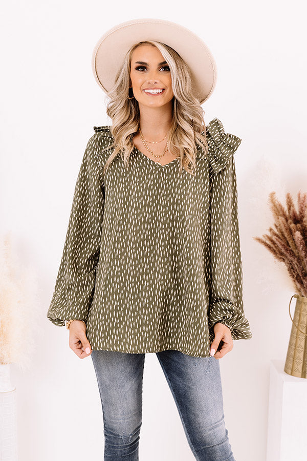 First Fling Shift Top in Army Green
