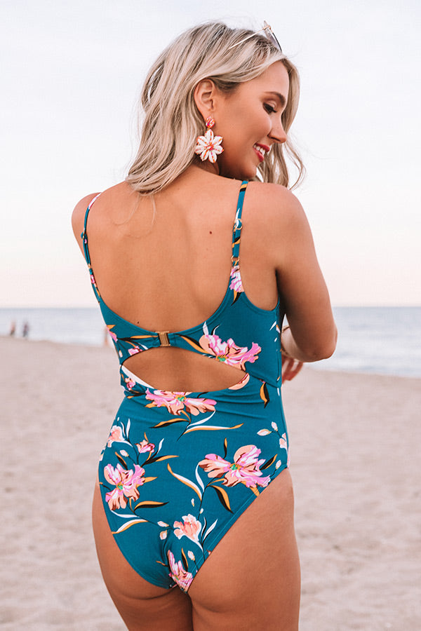 Among The Waves Cut Out One Piece Swimsuit