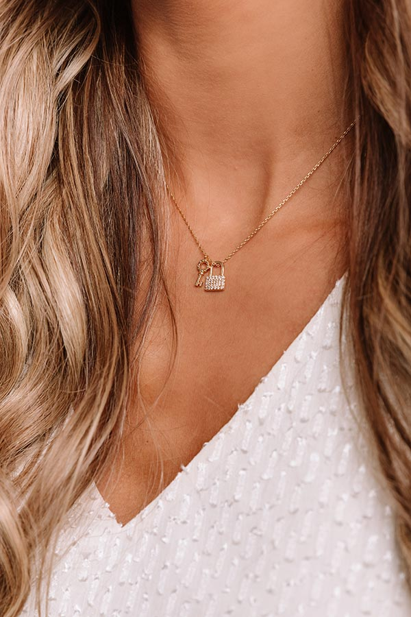 Key To My Heart Dainty Necklace