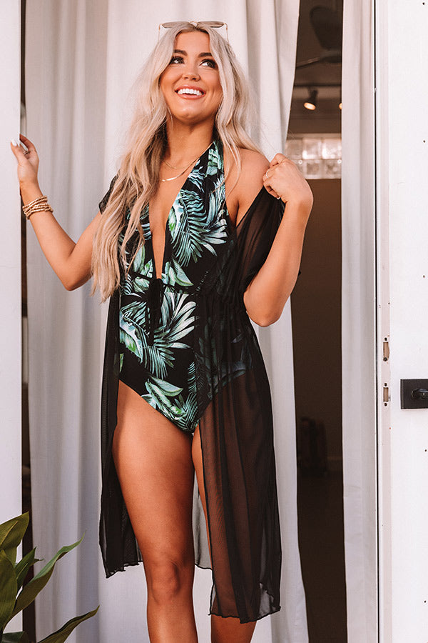 See You Poolside Mesh Cover Up in Black