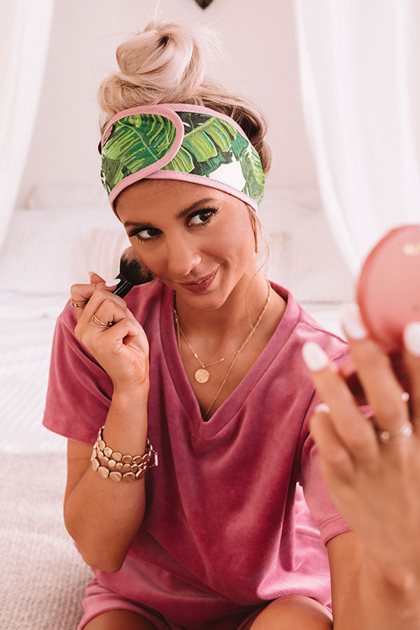 Microfiber Spa Headband in Palm Print