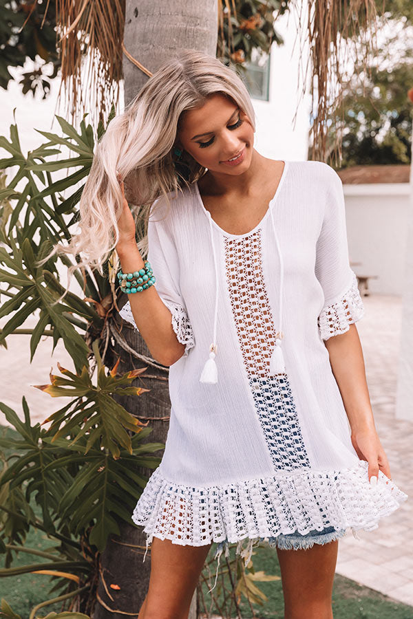 Beachy Abode Crochet Tunic