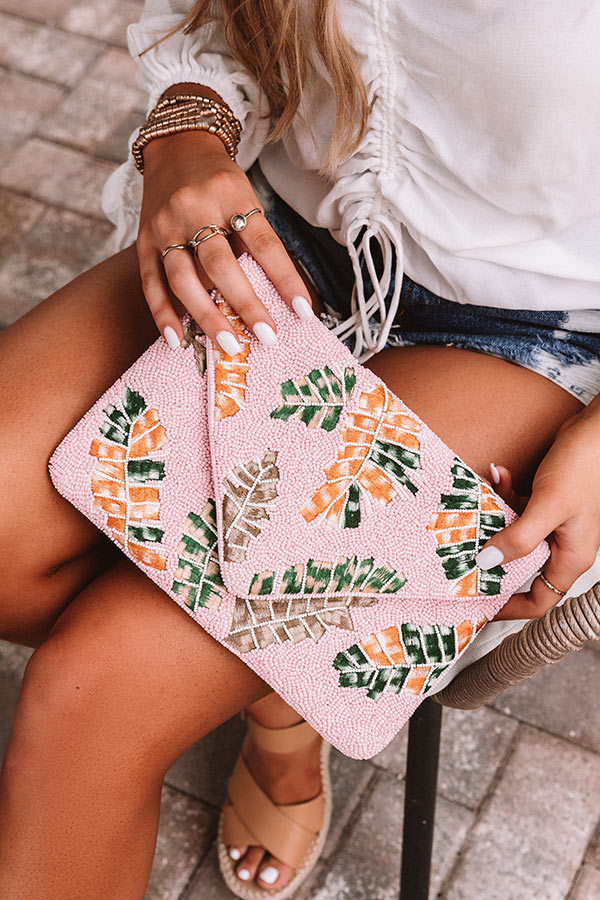 Tropical Destination Beaded Clutch