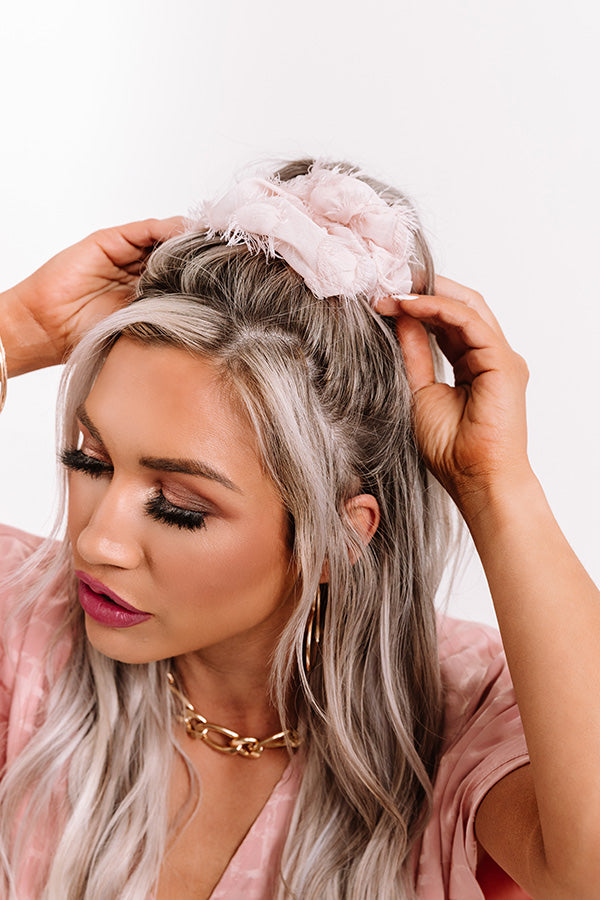 Brunch Scrunchie in Frayed Blush