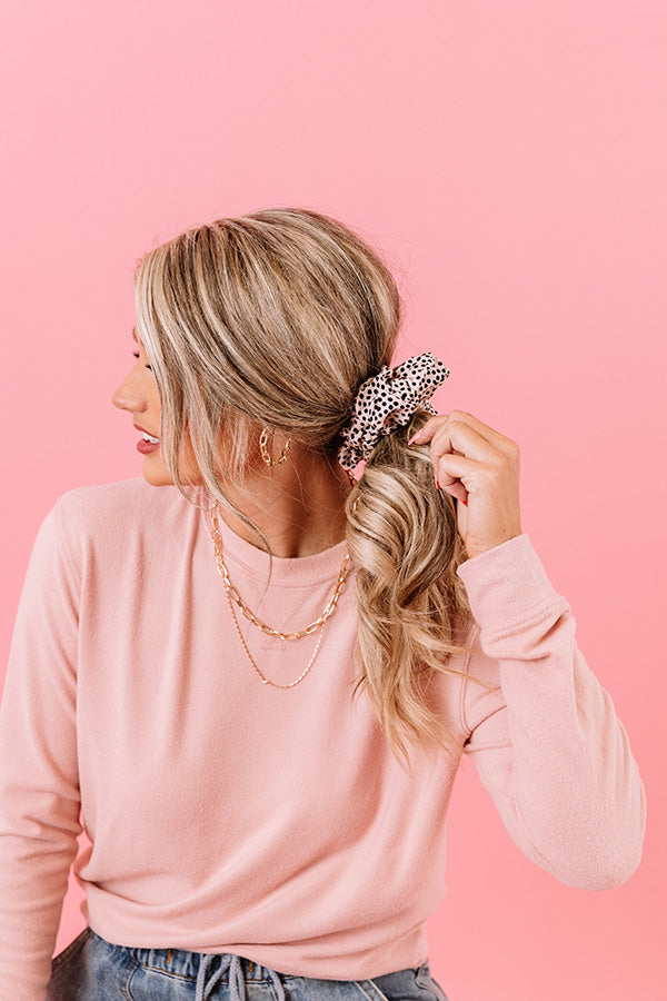 Brunch Scrunchie in Dot