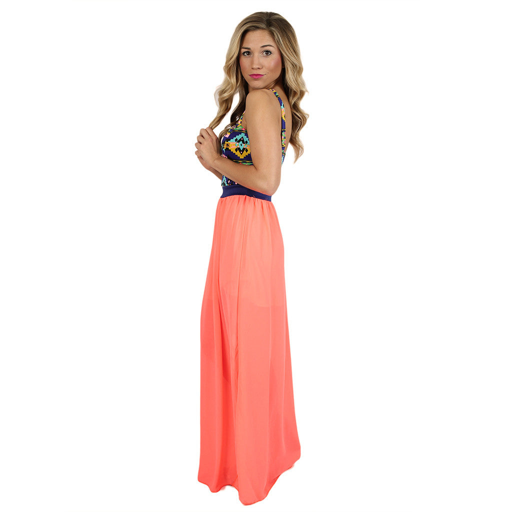 Charmed I'm Sure Maxi in Neon Coral