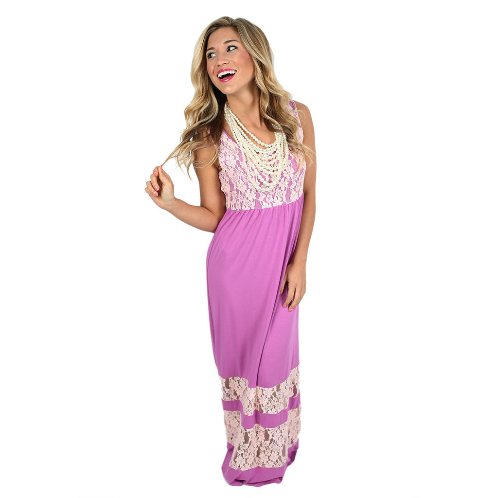 Lace Divine Maxi in Orchid
