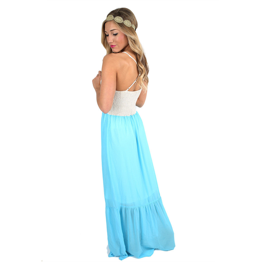 Summer Sun Maxi in Sky Blue