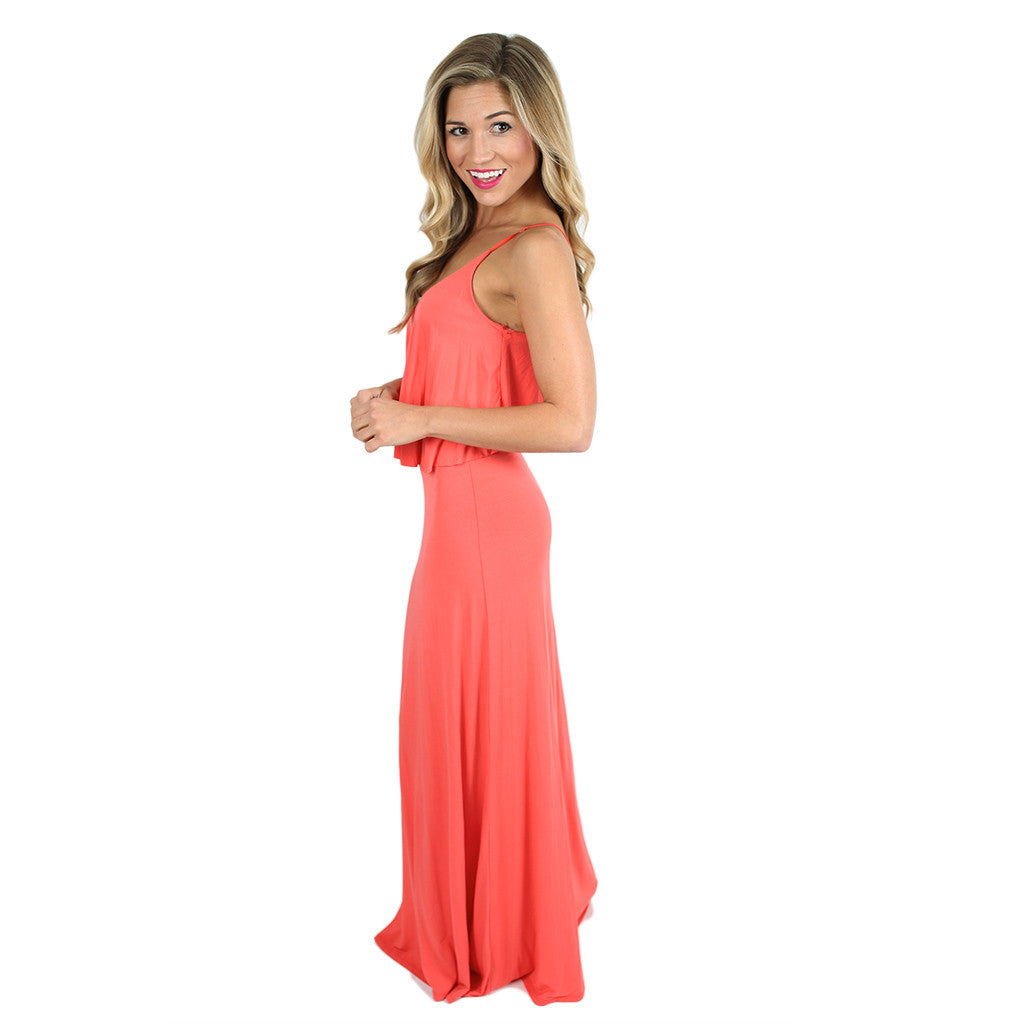 Heart Skips A Beat Maxi in Coral