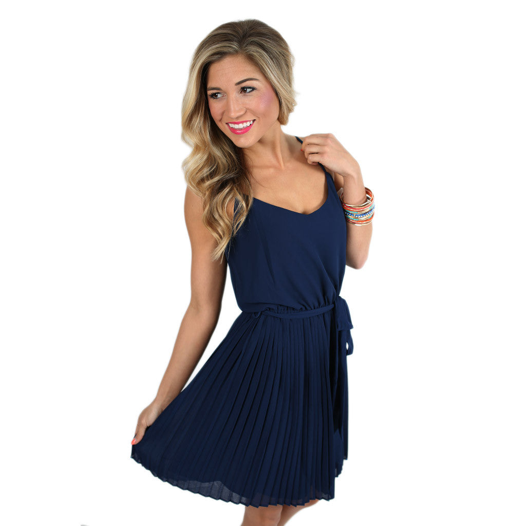 Wedding Date Dress in Navy