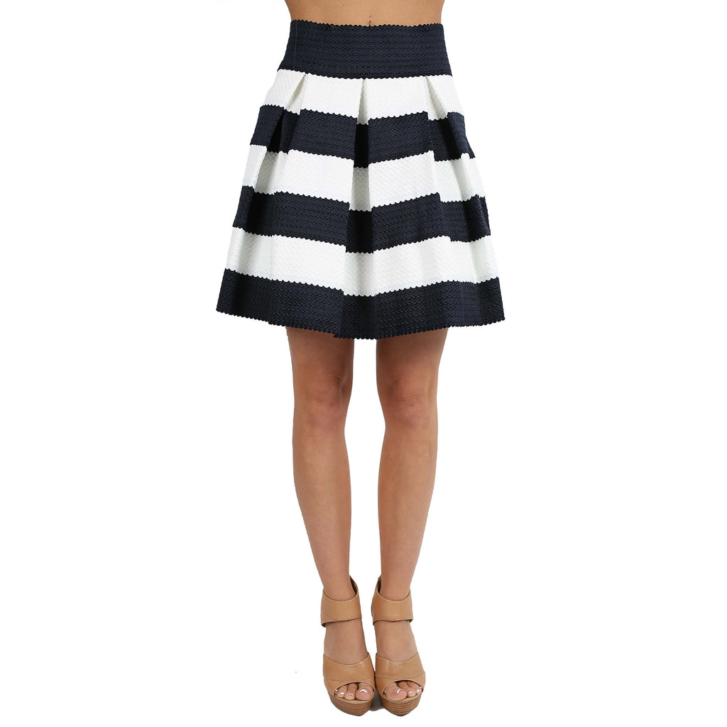 Striped Amore Skirt Navy
