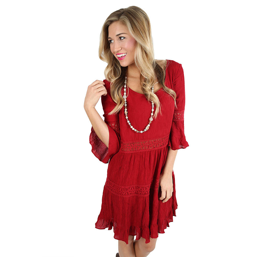 Diamond Doll Dress in Red